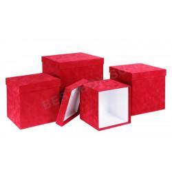 Матрешка-куб (красный бархат)