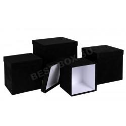 Матрешка-куб (черный бархат)