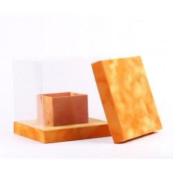 Прозрачный кубик в бархате