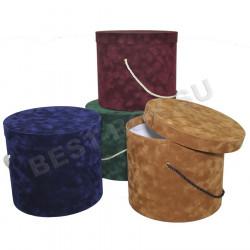 Шляпные коробки в бархате