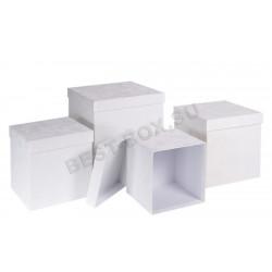 Матрешка-куб (белый бархат)