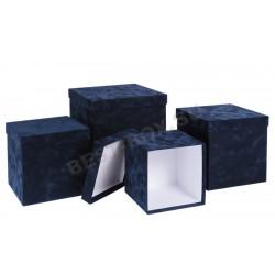 Флоковый кубик (синий)