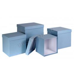 Матрешка-куб (голубой)