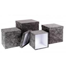 Флоковый кубик (серый)